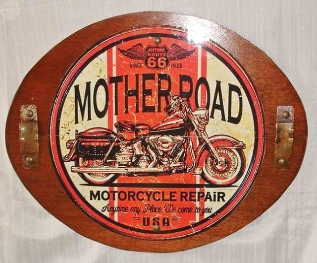 CUADRO CARTEL RETRO CHAPA MOTHER ROAD