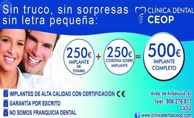 IMPLANTE DENTAL+CIRUGIA INCLUIDA=250 - foto 1