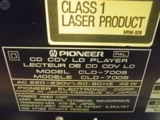 PIONEER CLD 700 S LASER CVD DVD - foto 3