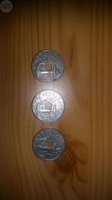 Lote Monedas De 50 Centimos  De 1963: