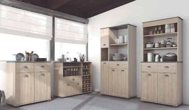 MUEBLE AUXILIAR COCINA 2 P. ROBLE MADERA