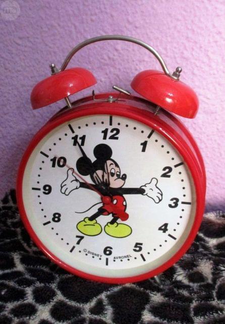 Reloj Despertador Mickey Avronel Años 80