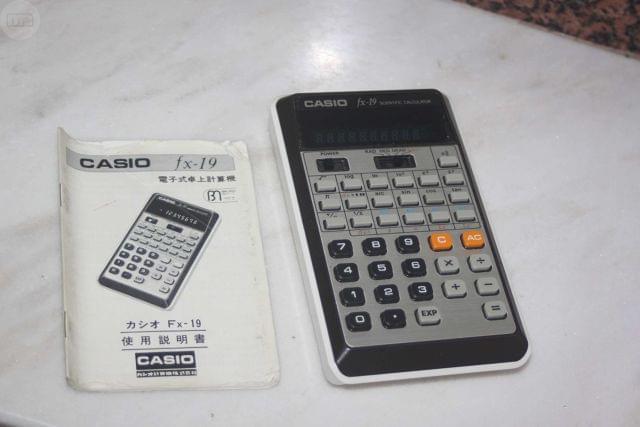 Calculadora Antigua Casio Fx-19