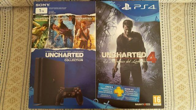 PLAYSTATION 4 SLIM 1TB + PACK UNCHARTED - foto 1