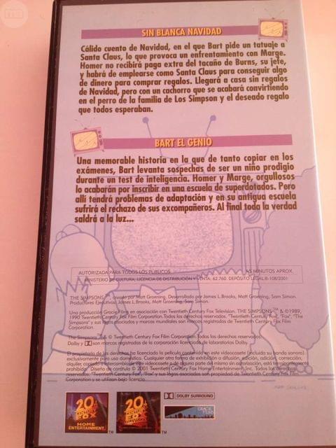 VHS DE LOS SIMPSONS - foto 2