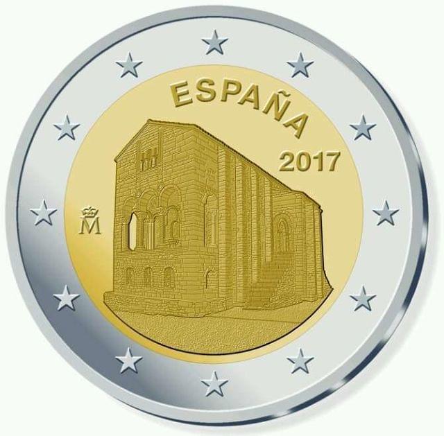 Moneda De 2E Conmemorativa España 2017