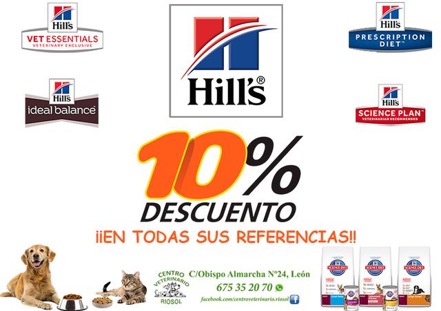 10 % DESCUENTO PIENSO HILLS