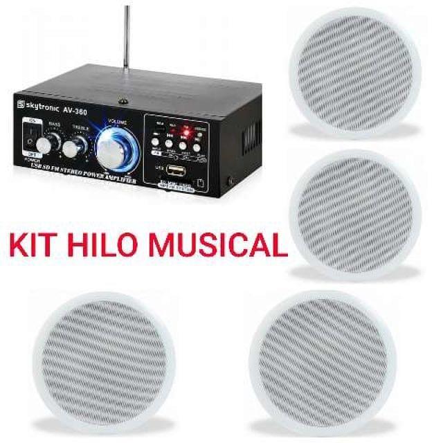 HILO MUSICAL AMPLIF ALTAVOCES 8 NUEVOS.