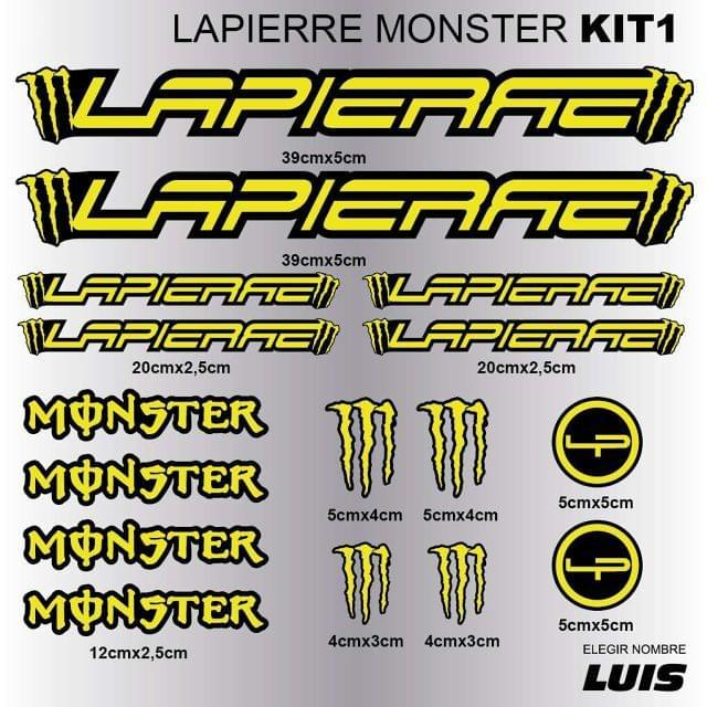 LAPIERRE MONSTER KIT1 ADHESIVOS, VINILOS