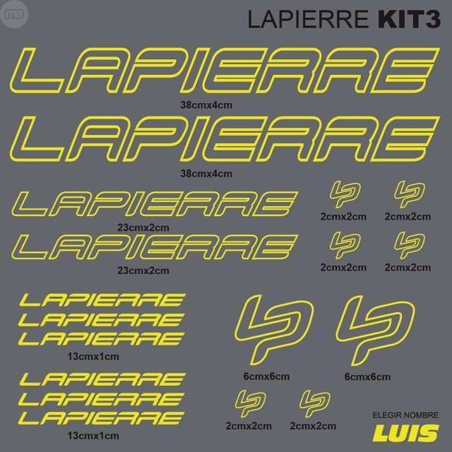 LAPIERRE KIT3 ADHESIVOS, VINILOS, CALCAS