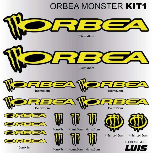 ORBEA MONSTER KIT1 ADHESIVOS, VINILOS,