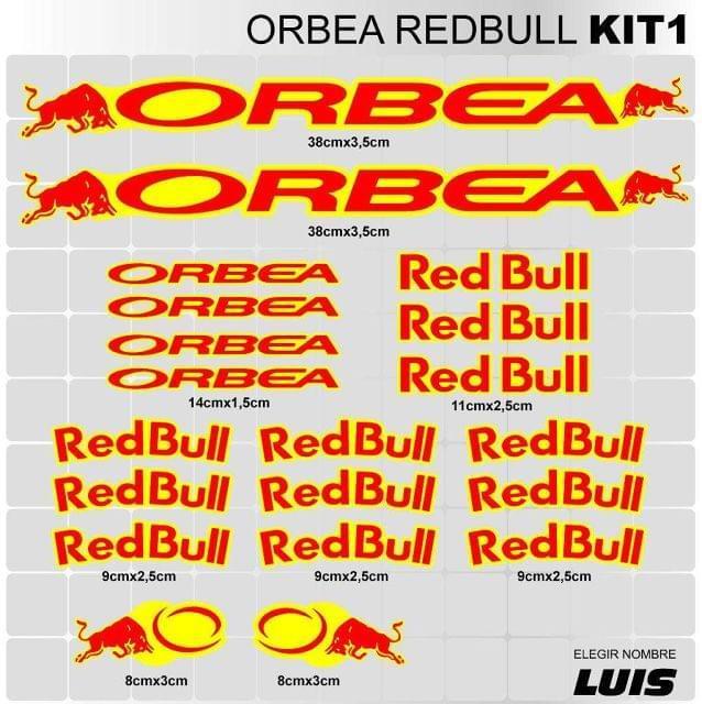 ORBEA RED BULL KIT1 ADHESIVOS, VINILOS