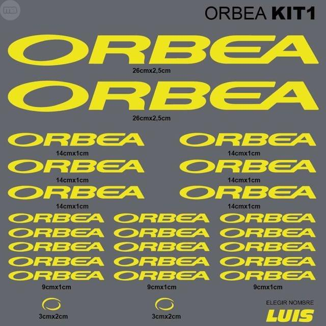 ORBEA KIT1 ADHESIVOS, VINILOS, CALCAS,