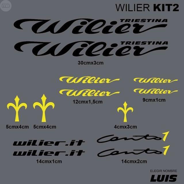 WILIER KIT2 ADHESIVOS, VINILOS, CALCAS,