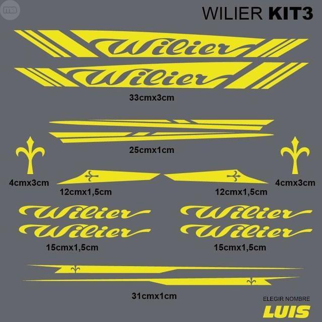 WILIER KIT3 ADHESIVOS, VINILOS, CALCAS,