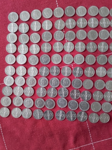Monedas 50 Centimos Peseta De Franco
