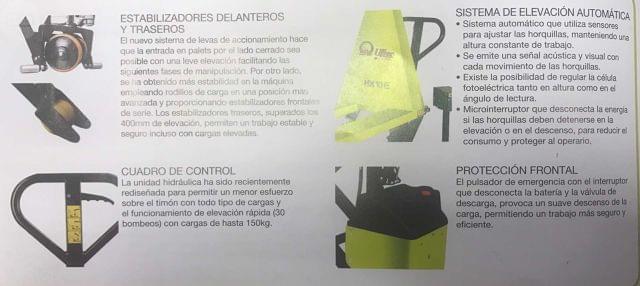 TRANSPALETA ELEVADORA DE TIJERA - foto 2
