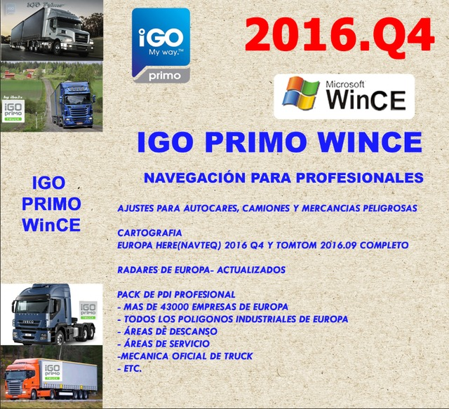 IGO PRIMO TRUCK 2017 WINCE