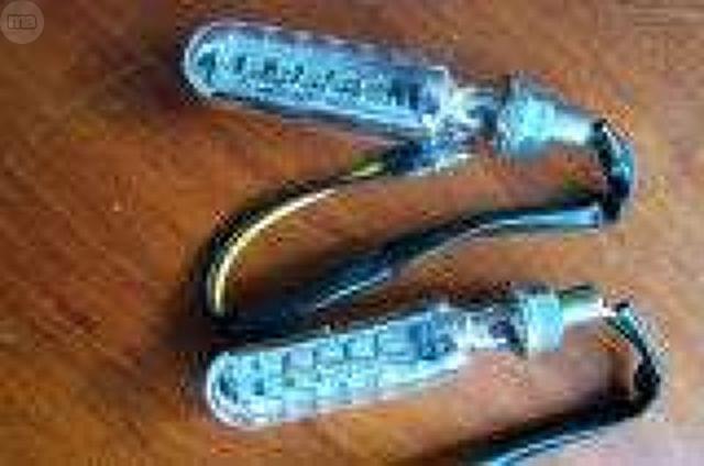 2 INTERMITENTES LED CROMADOS DE TUBO.  - foto 4
