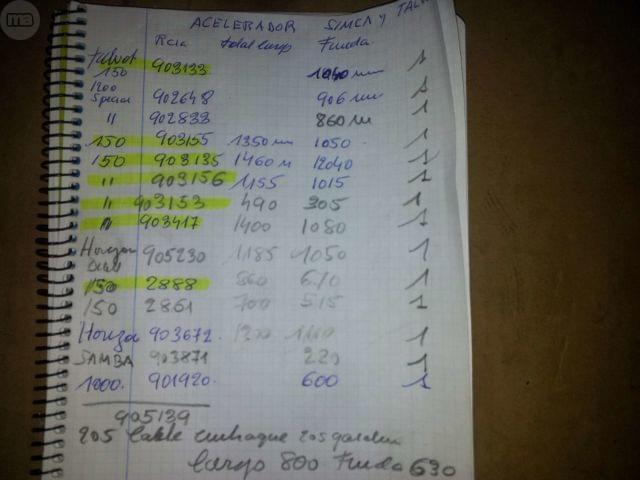 FUNDA ECELERADOR SIMCA 1200 - foto 3