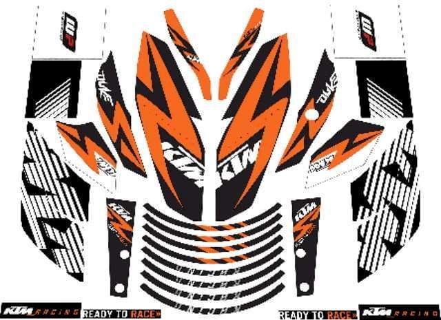 PEGATINAS KTM DUKE Y RC 125 390 - foto 9