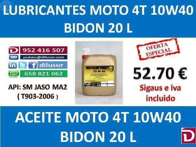 LUBRICANTE MOTO 4T 10W40 20 L - foto 2