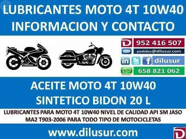 LUBRICANTE MOTO 4T 10W40 20 L - foto 7