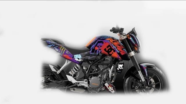 PEGATINAS KTM DUKE RC 125 200 390 - foto 3