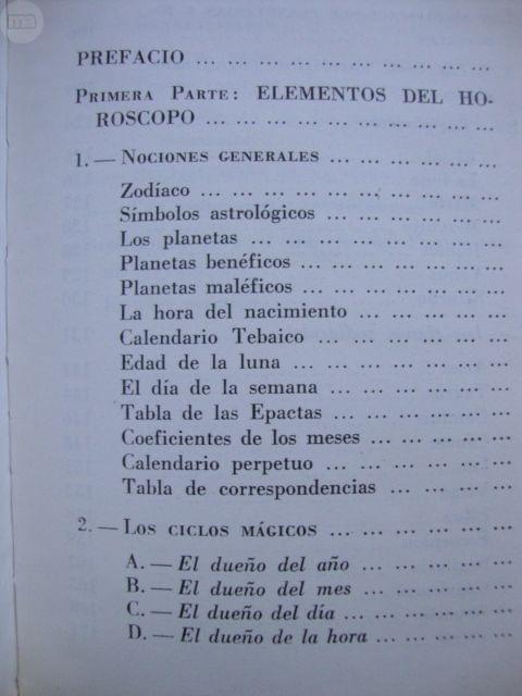 Calendario Tebaico.Prontuario De Astrologia