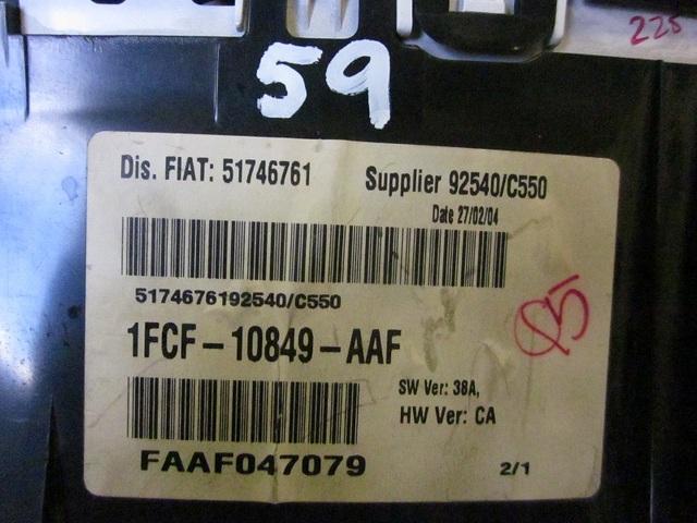 CUADRO FIAT 1FCF10849AAF / FAAF047079 - foto 2