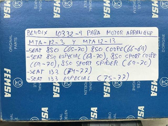 BENDIX MOTOR DE ARRANQUE SEAT 850, 133 - foto 8