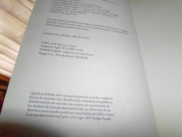 LIBRO ECLIPSE SAGA CREPUSCULO - foto 6