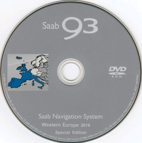 MAPA GPS SAAB 93 EUROPA 2016-17 - foto 4