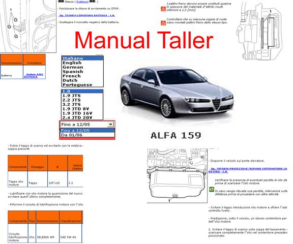 Manual Taller Y Mecanica Alfa Romeo 159