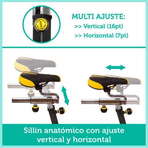 BICI SPINNING VOLANTE INERCIA 24KG - foto 4