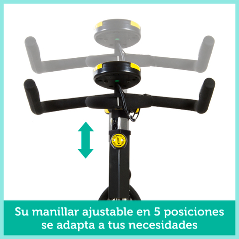 BICI SPINNING VOLANTE INERCIA 24KG - foto 5