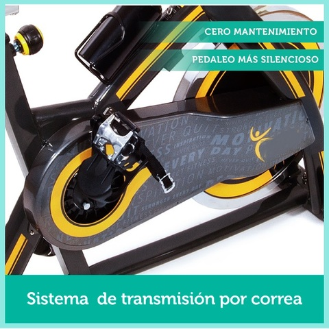 BICI SPINNING VOLANTE INERCIA 24KG - foto 7