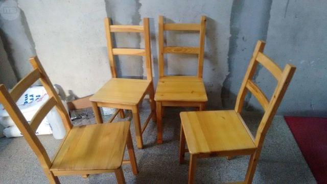 sillas de pino de ikea