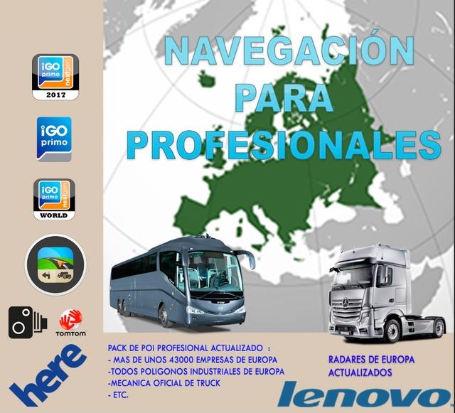GPS PROFESIONAL PARA CAMIONES , AUTOCARES
