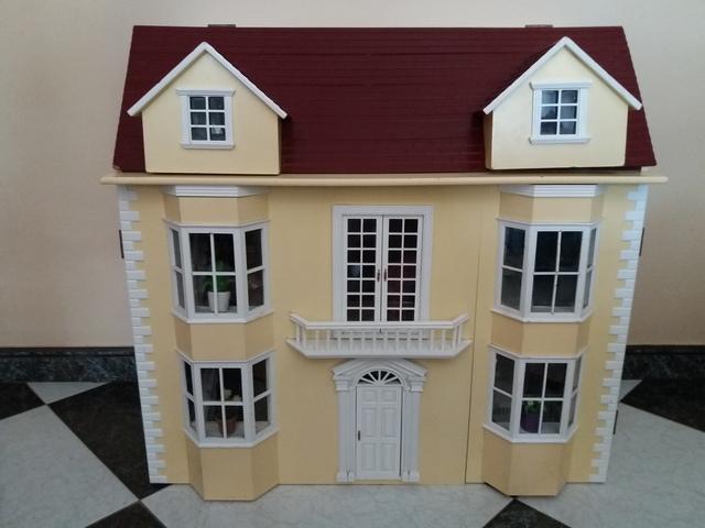 Iluminación casa de muñecas en miniatura Heidi Ott LED Blanco y Dorado Lámpara de pie
