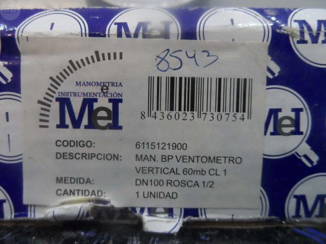 MANÓMETRO DE PRESIÓN VERTICAL CEWAL - foto 3