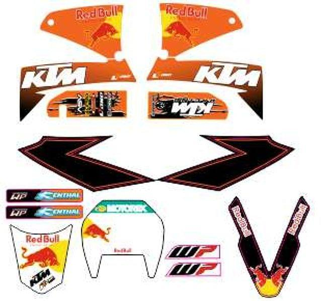 KIT ADHESIVO DE KTM LC4 625-640-660 SMC - foto 5
