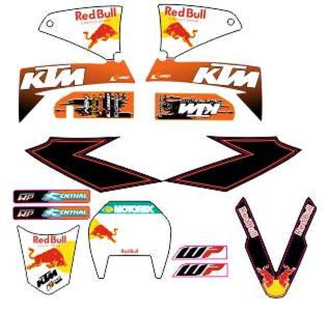 KIT ADHESIVO DE KTM LC4 625-640-660 SMC - foto 4