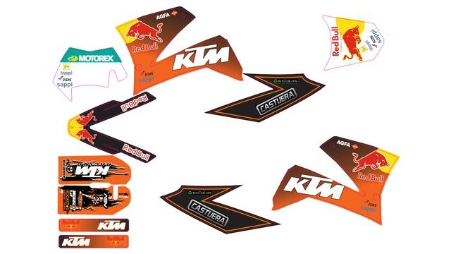 KIT ADHESIVO DE KTM LC4 625-640-660 SMC - foto 9