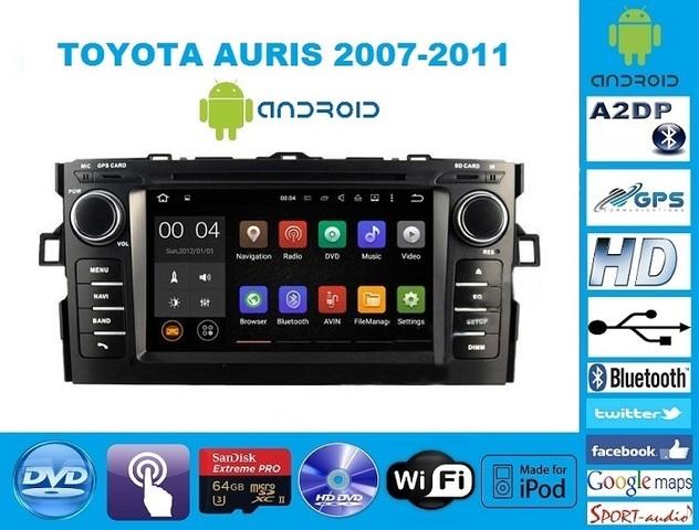 RADIO ANDROID DVD TOYOTA AURIS - foto 1