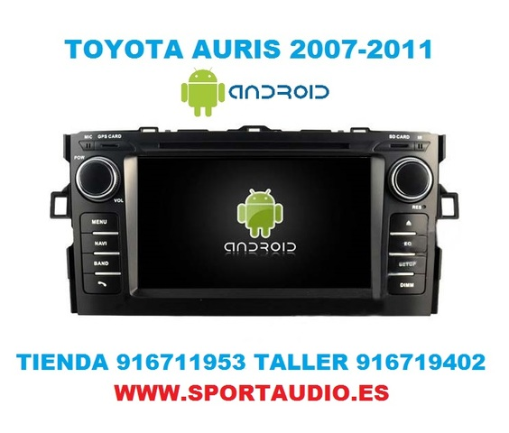 RADIO ANDROID DVD TOYOTA AURIS - foto 5