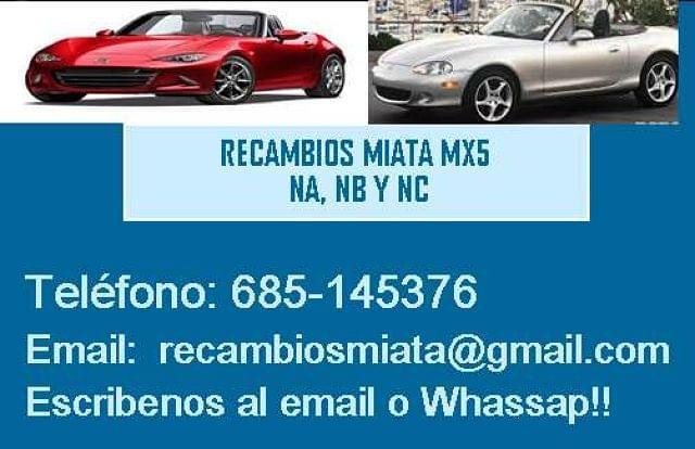 RESPALDO MAZDA MX5 NC - foto 2