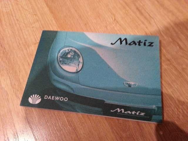 MANUALES DE USUARIO DEL DAEWOO MATIZ - foto 1