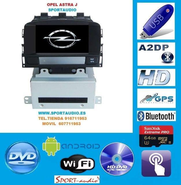 NAVEGADOR DVD OPEL ASTRA J ANDROID - foto 1