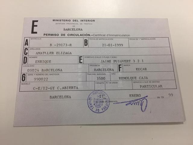REMOLQUE DE AUTOESCUELA